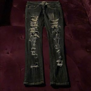 Sexy fitting holy jeans from express